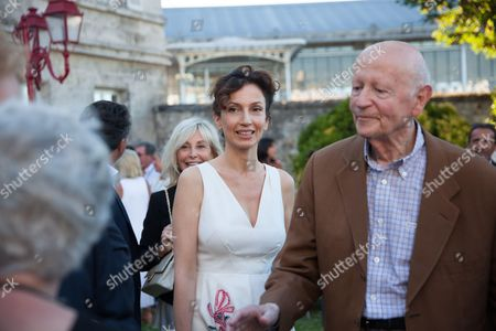 Stock Picture of Audrey Azoulay and Gilles Jacob