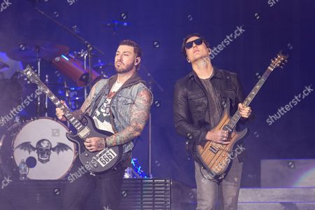 Avenged Sevenfold - Zacky Vengeance (Zachary Baker) and Synyster Gates (Brian Haner, Jr.)