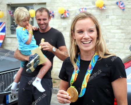 Editorial photo of Olympic medalists return home, Dorset, UK - 24 Aug 2016
