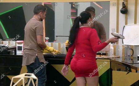 Ricky Norwood and Renee Graziano doing the washing-up