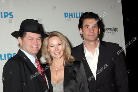 Stock Picture of Micky Dolenz with his wife Donna Quinter and Robert Funaro