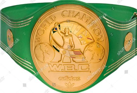 WBC Heavyweight Championship belt won by Muhammad Ali following the legendary 'Rumble in the Jungle' against George Foreman