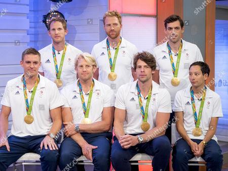 Stock Photo of Matt Langridge, Will Satch, Matt Gotrel, Pete Reed, Andrew Hodge, Tom Ransley, Phelan Hill