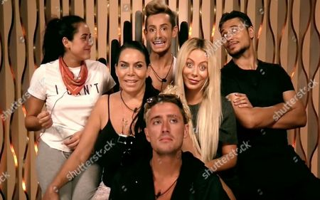 The finalists - Marnie Simpson, Frankie Grande, Ricky Norwood, Renee Graziano, Aubrey O'Day and Stephen Bear