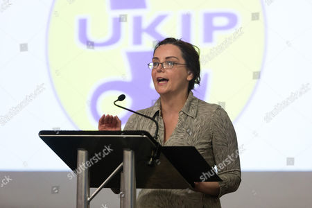 UKIP Leadership Candidate Liz Jones speaking at the UKIP Leadership Election Hustings held at the Emmanuel Centre