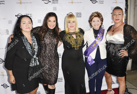 Josefina Lopez, Kamala Lopez, Patricia Arquette, Gloria Allred,