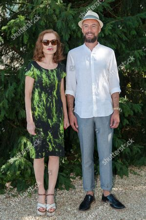 Isabelle Huppert and Kevin Azais