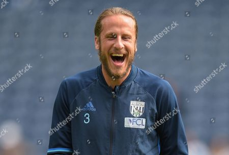 Jonas Olsson of West Bromwich Albion during the Premier League match between West Bromwich Albion and Middlesbrough played at The Hawthorns, West Bromwich on 28th August 2016