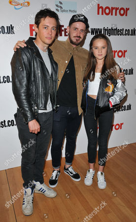 Stock Photo of Elliot James Langridge, Martin Owen and Isabelle Allen