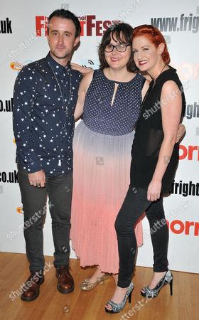 Stock Photo of Adam Rhys-Davies, Kate Shenton and Nic Lamont