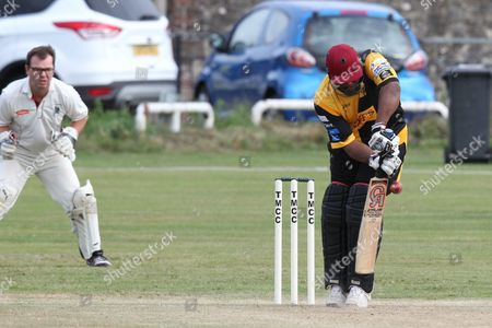 Gordon Greenidge in bat during the Lashings All-Stars World XI vs House Of Commons & Lords match at Town Malling Cricket Club, Old County Ground, West Malling