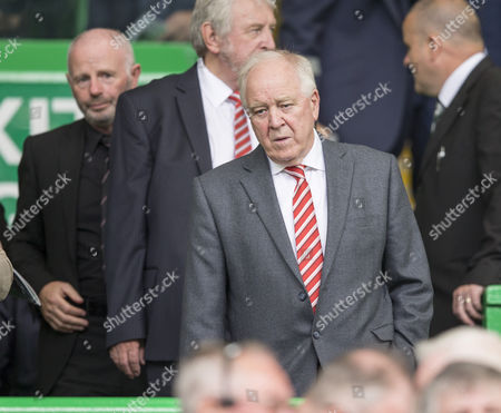 Craig Brown, former Aberdeen & Scotland manager in the directors box before the SPFL Ladbrokes Premiership match between Celtic and Aberdeen at Celtic Park, Glasgow on 27th August