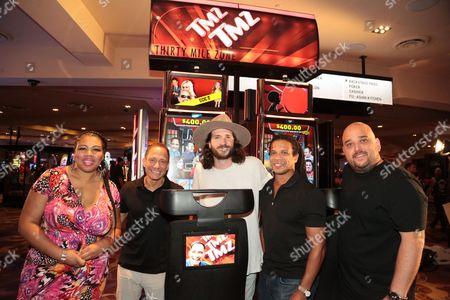 Stock Picture of Raquel Harper, Harvey Levin, Charles Latibeaudiere, TMZ Staff