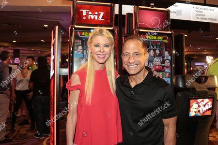 Tara Reid and Harvey Levin