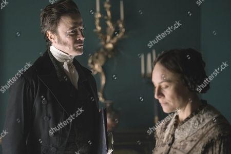 Paul Rhys as Sir John Conroy and Daniela Holtz as Baroness Lehzen.
