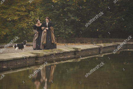 Jenna Coleman as Victoria and Daniela Holtz as Baroness Lehzen.