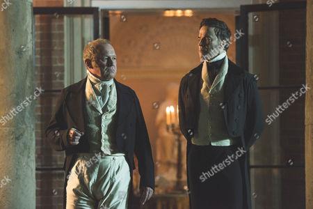 Peter Firth (Duke of Cumberland) and Paul Rhys as Sir John Conroy