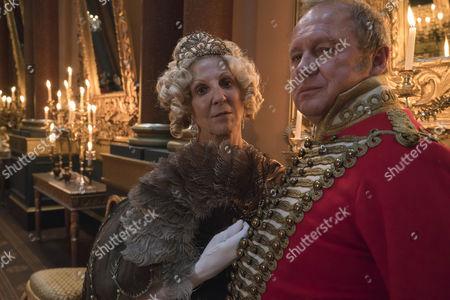 Nichola McAuliffe as Duchess Of Cumberland and Peter Firth as Duke Of Cumberland.