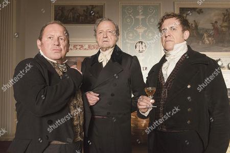 Peter Firth (Duke of Cumberland), Peter Bowles (Duke of Wellington) and Nigel Lindsay (Sir Robert Peel)