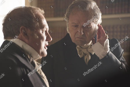 Stock Photo of Peter Firth (Duke of Cumberland) and Peter Bowles (Duke of Wellington)