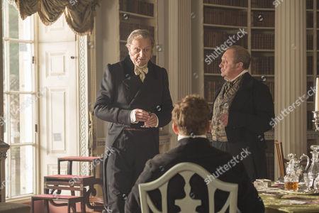 Stock Image of Peter Bowles (Duke of Wellington), Peter Firth (Duke of Wellington) and Nigel Lindsay as Sir Robert Peel