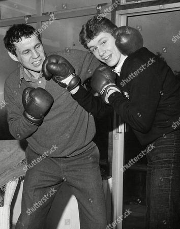 Former Boxer Terry Downes (l) With His Son Terry Downes Jnr. Box 702 801081638 A.jpg.