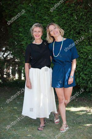 Stock Image of Karin Viard and Nadege Loiseau