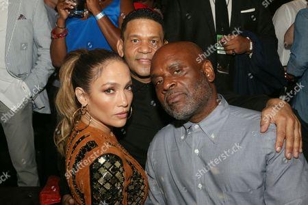 Jennifer Lopez, Benny Medina and guest
