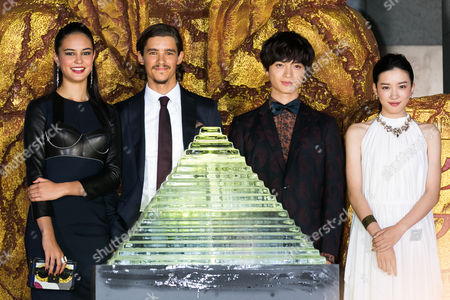 Stock Photo of Courtney Eaton, Brenton Thwaites, Yuta Tamamori and Mei Nagano