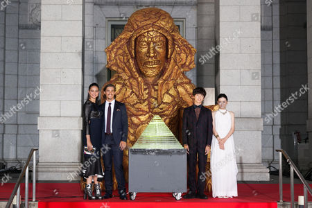 Stock Picture of Courtney Eaton, Brenton Thwaites, Yuta Tamamori and Mei Nagano
