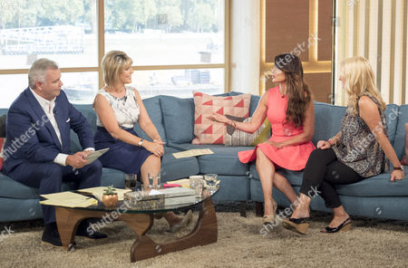 Eamonn Holmes and Ruth Langsford with Lizzie Cundy and Alison Phillips