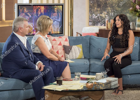 Eamonn Holmes and Ruth Langsford with Monica Michael