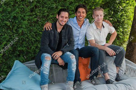 Lou-Pascal Tremblay, Yan England and Antoine-Olivier Pilon