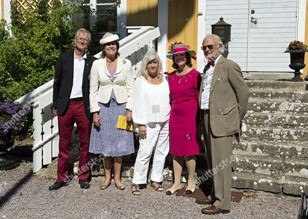 King Carl Gustaf, Queen Silvia, Bitte Johansson, Rune Johansson, Marianne von Der Esch