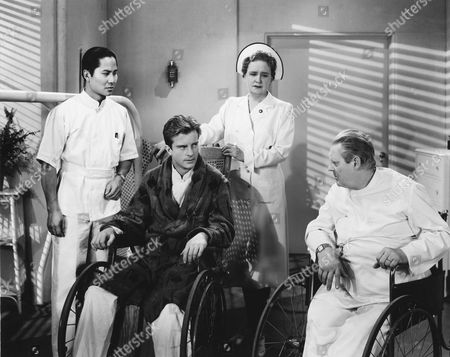 Keye Luke, William Lundigan, Alma Kruger, Lionel Barrymore