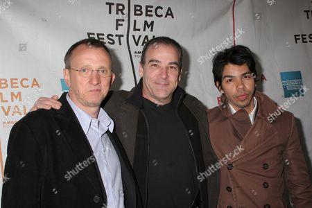 Steven Barron, Mandy Patinkin and Octavio Gomez Berrios