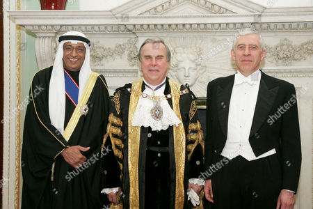 Ambassador of Kuwait Khaled Al-Duwaisan GTCVO, David Brewer - the Lord Mayor of London - and Jack Straw