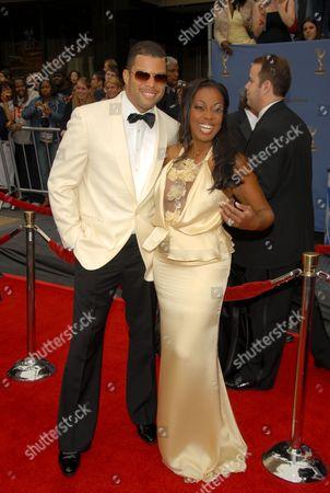 Stock Photo of Al Reynolds and Star Jones-Reynolds