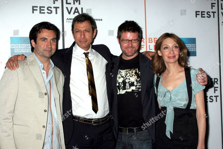 Chris Bradley, Jeff Goldblum, Kyle LaBrache and Illeana Douglas