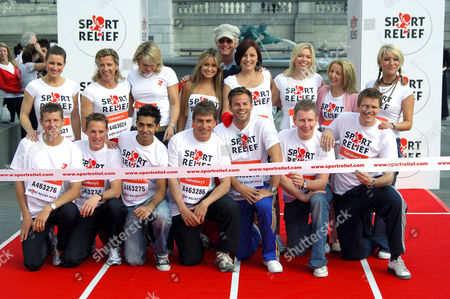 Back row : Kirsty Gallacher, Sally Gunnell, Nicki Chapman, Sarah Barrand, Davina McCall, Kate Thornton, Gillian McKeith and Zoe Lucker. Front row : Steve Cram, Danny Crates, Jay Sean, John Inverdale, Ben Richards, Jake Humphrey