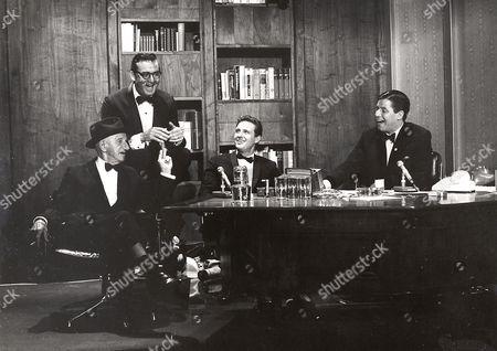 Jimmy Durante, Steve Allen, Robert Stack, Jerry Lewis