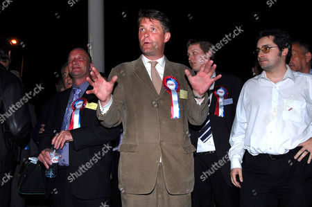 New, British National Party elected councillor, Richard Barnbrook with British National Party members