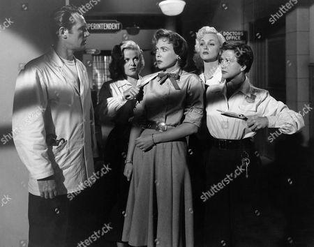 Howard Duff, Cleo Moore, Ida Lupino, Jan Sterling, Vivian Marshall