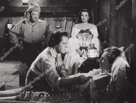 Billy Bevan, Louis Hayward, Patricia Medina, Lowell Gilmore