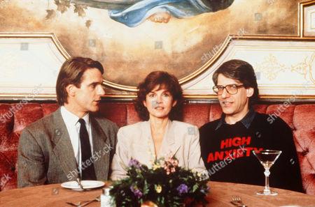 Jeremy Irons, Genevieve Bujold, David Cronenberg
