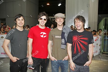 Stock Picture of Hoobastank - Markku Lappalainen, Dan Estrin, Chris Hesse and Doug Robb