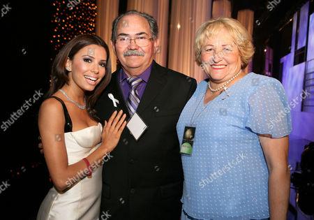 Stock Image of Eva Longoria, Enrique Longoria and Ella Longoria