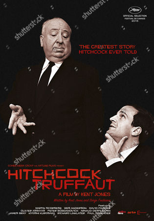 Stock Image of Alfred Hitchcock, Francois Truffaut