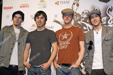 Stock Image of Hoobastank - Dan Estrin, Markku Lappalainen, Chris Hesse and Doug Robb
