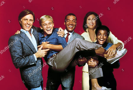Stock Picture of Joel Higgins, Ricky Schroder, Franklyn Seales, Erin Gray, Alfonso Ribeiro